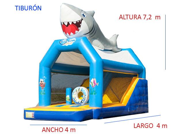 Castillo Hinchable Alquiler Tiburon