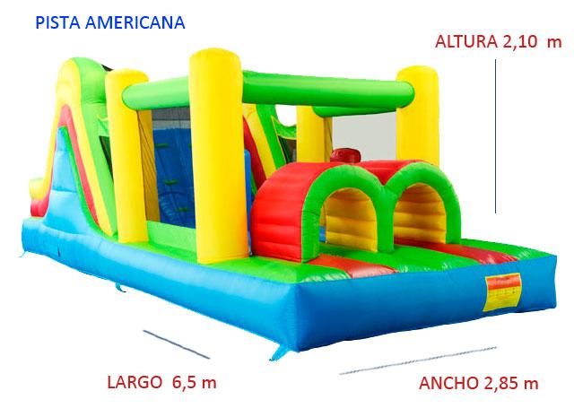 Castillo Hinchable Alquiler Pista Americana