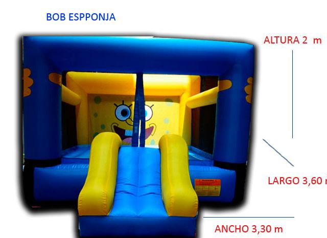 Castillo Hinchable Alquiler Bob Esponja