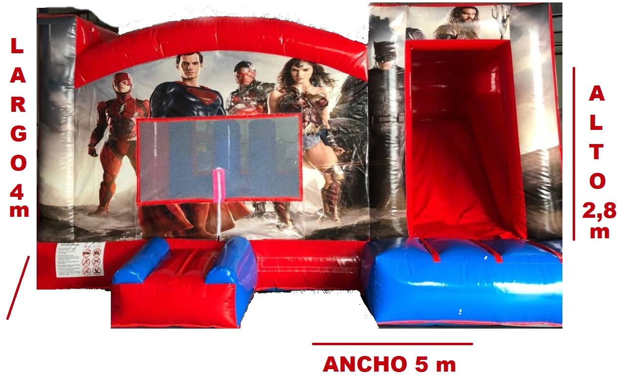 Castillo Hinchable Alquiller Super Heroes Medidas